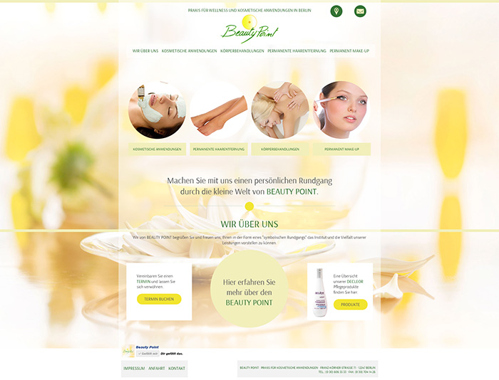 Website von BeautyPoint Berlin