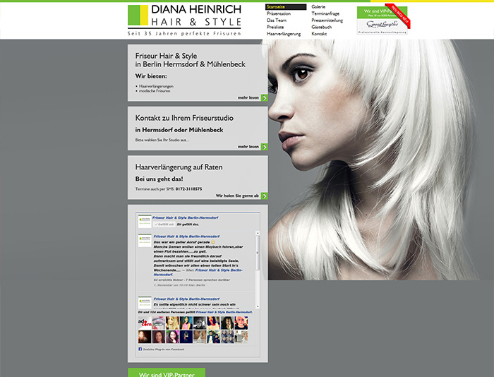 Website von Friseur Hair & Style