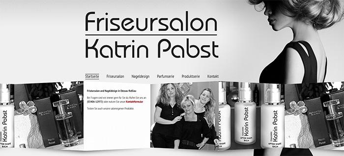 Website des Friseursalon Katrin Pabst