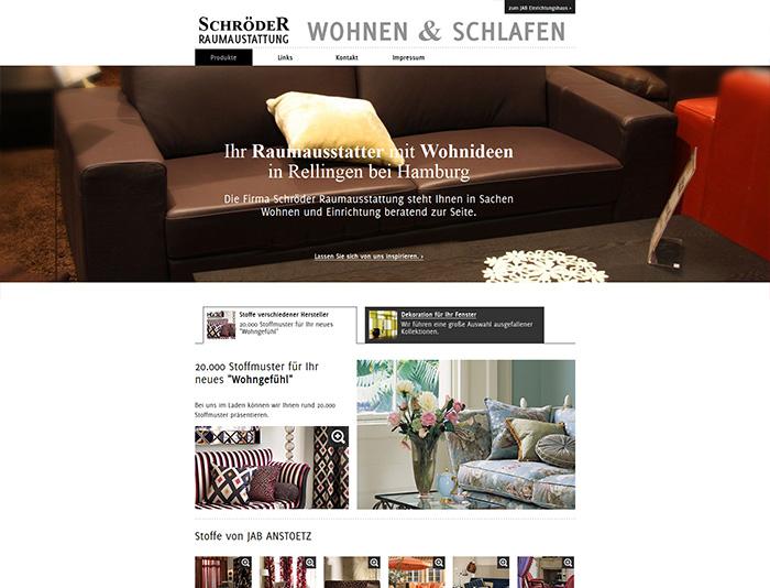 Flat Design für die Firma Schröder Raumausstattung