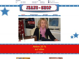 Jeans Shop Dresden - Webseite