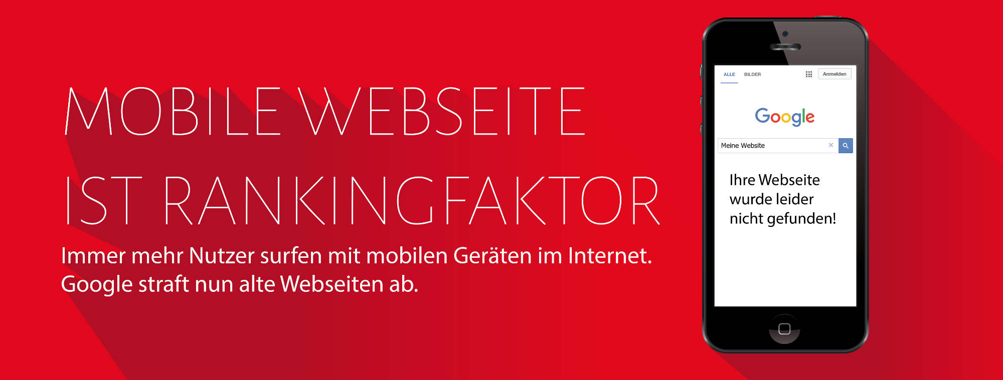 Mobile Webseite ist Rankingfaktor